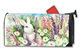 MailWraps White Bunny Mailbox Cover #01099