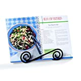 Spectrum Diversified Scroll Cookbook, Tablet & Plate Holder, Black