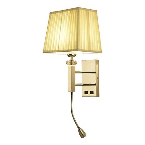 Moderno LED 3W luz de lectura lámpara de pared lámpara de noche de tubo interruptor interior