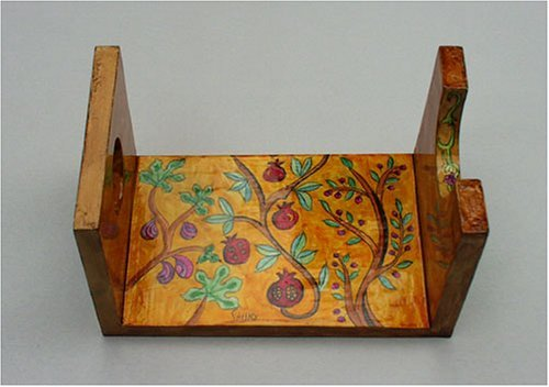 Hand Painted Wooden Shofar Stand By Yair Emanuel (vtsts2)