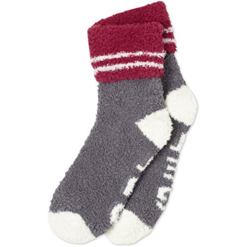Life is good Women's Snuggle Get Out Cuff Socks, Slate Gray, One Size