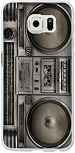 S6 Edge Case Dseason,Samsung Galaxy S6 Edge Hard Case **NEW** High Quality Best Price Personalized Black nostalgic radios by icecream design