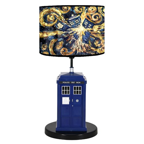 Doctor Who Flashing Tardis Pattern Table Lamp
