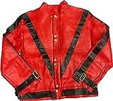 Charades Men's Michael Jackson Thriller Jacket, Red/Black, Medium