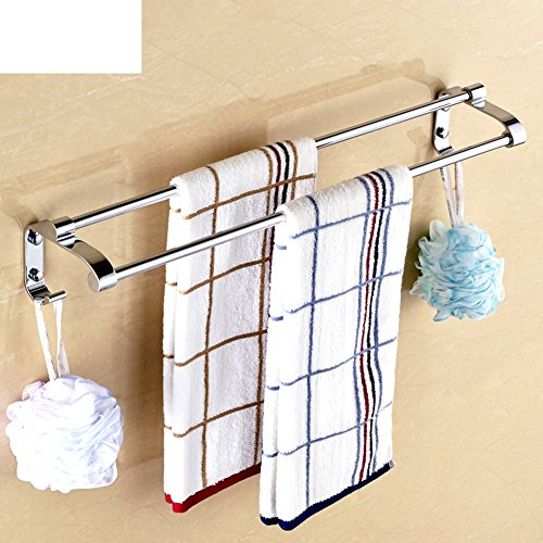 80%OFF Stainless steel bathroom accessories set/Towel shelf /towel rack/Single pole double Rod racks-M