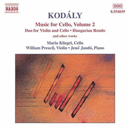 [Kodaly: Music for Cello, Vol. 2 / Duo for Violin & Cello, Op. 7] (William Preucil Violin)