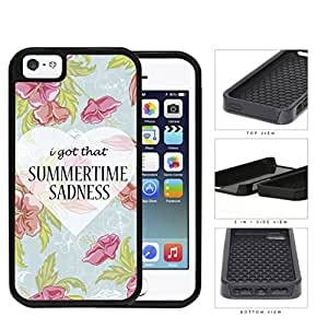 I Got That Summertime Sadnesss 2-Piece Dual Layer High Impact Rubber Silicone Cell Phone Case Apple iPhone 5 5s