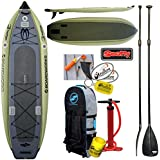 2017 Boardworks Badfisher MCIT 11ft Inflatable Fishing SUP Stand Up Paddle Board Bundle