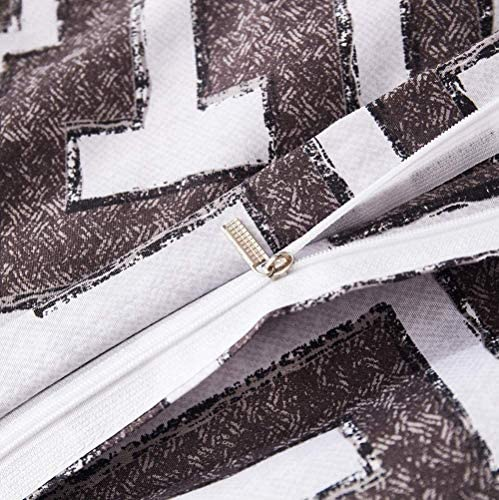 DXAQC Housse De Couette À Impression Géométrique Taie d'oreiller Kit De Literie pour La Maison Écologique Et Respirant,Gris,Double(200 * 200cm)