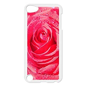 For SamSung Galaxy S5 Phone Case Cover Rose Macro Drops Dew Flower Hard Shell Back White For SamSung Galaxy S5 Phone Case Cover 304582
