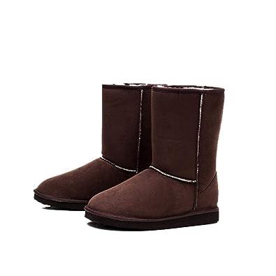 Serface Schlupfstiefel Damen Winterschuhe Fluff Winter Warm Bowknot Boots  Winterstiefel Flach Klassisch Stiefeletten Rutschfest für Casual 22c099aa53