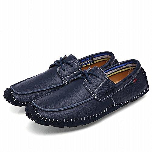 Latasa Heren Casual Oxford Flats Schoenen Blauw