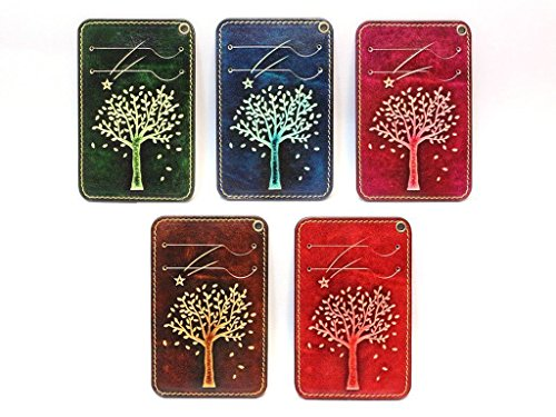 Leather Card Case Wallet Holder Lanyard with Necklace Strap : TreeStar-DarkBROWN