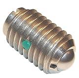 Morton MBP-090SS Stainless Steel 303 Ball Plunger, 4-48 Thread, 1/16'' Ball Diameter, 0.12 kg Start - 0.5 kg Full End Pressure (Pack of 5)