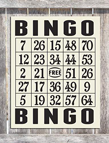 PotteLove Bingo Card Wood Sign Hand Screened on Wood by PotteLove
