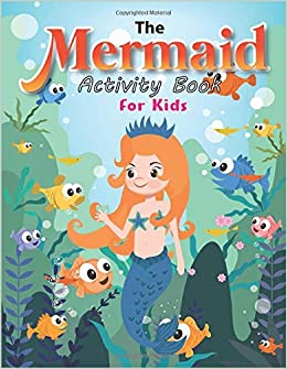The Mermaid Activity Book For Kids Barbie Mermaid Coloring Pages