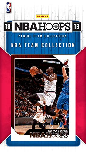 (Miami Heat 2018 2019 Hoops Basketball Factory Sealed 8 Card Team Set with Dwyane Wade, Goran Dragic, Dion Waiters Plus)