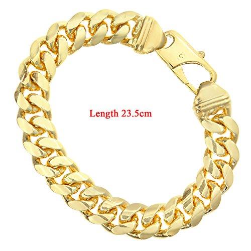 """Citerna SAC400 23 """"Argent plaqué or massif Men's Bracelet Gourmette longueur 23,5 cm"""