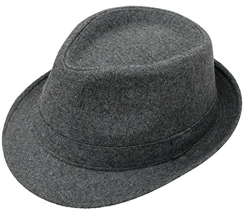 Lullaby Unisex Mens Womens Classic Manhattan Gangster Trilby Fedora Hat Grey