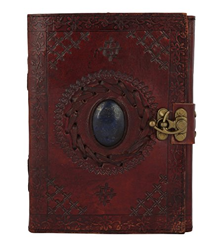Leather Journal with Semi-precious Stone & Buckle Closure Leather Diary Gift for Him (Precious Journals)