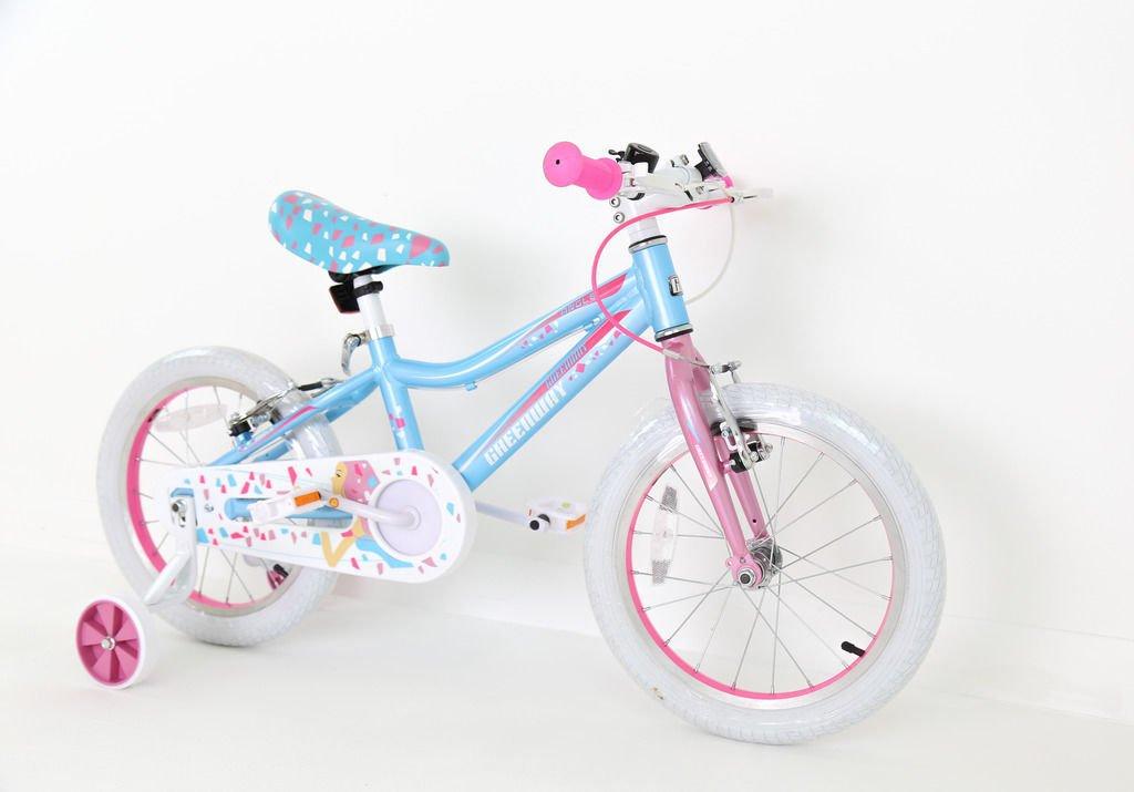 Legierung Prinzessin Blau Girl & 039;s Fahrräder in Größe 40,6 cm verstellbar Abnehmbare Stabilisatoren