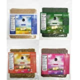 Coco Nori Coconut Wraps Variety Pack - Includes Original, Curry, Strawberry and Spirulina Flavors