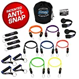 Bodylastics STRONG MAN, Stackable Resistance Bands Sets - These top notch Home and Travel Gyms include Our Best Quality ANTI-SNAP exercise tubes, heavy Duty Components: Anchors/Handles/Ankle Straps, and exercise training resources.