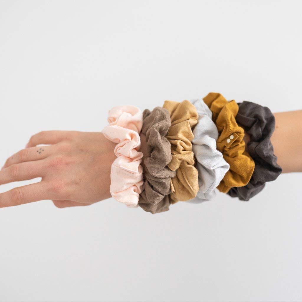 Organic Waffle Knit Winter Colours Hair Accessories Hair Ties 100/% Organic Cotton Scrunchies