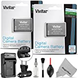 Vivitar 2 Pack EN-EL23 Battery and Charger Kit for Nikon Coolpix P900, P600, P610, B700 and S810c (100% Compatible, Fully Decoded 2550mAh Rechargeable Lithium-Ion Batteries)