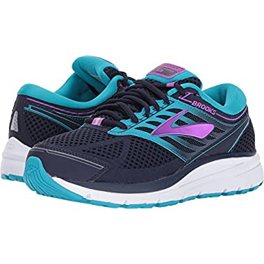 de7c65916cb9 Brooks Women s Addiction 13 Evening Blue Teal Victory Purple Cactus Flower  6.5 ...
