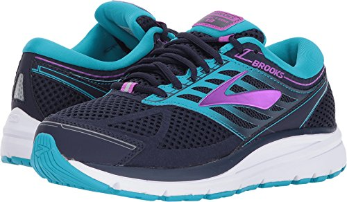 Brooks Women's Addiction 13 Evening Blue/Teal Victory/Purple Cactus Flower 7 B US