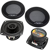 Harmony Audio HA-R4 Car Stereo Rhythm Series 4 Replacement 150W Speakers & Grills