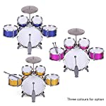ammoon-Children-Kids-Drum-Set-Musical-Instrument-Toy-5-Drums-with-Small-Cymbal-Stool-Drum-Sticks-for-Boys-Girls