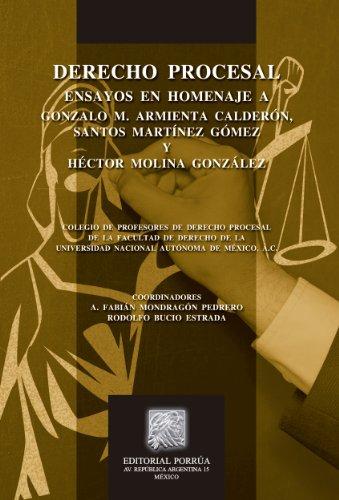 Descargar Libro Derecho Procesal: Ensayos En Homenaje A Gonzalo M. Armienta Calderón, Santos Martínez Gómez Y Héctor Molina González Fabián Mondragón Pedrero (coordinador)