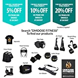 DMoose Fitness Ankle Straps for Cable Machines - Stainless Steel Double D-Ring, Adjustable Comfort fit Neoprene, Glute & Leg Workouts - for Men & Women