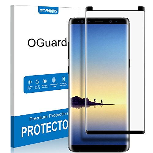 OGuard Galaxy Note 8 Tempered Glass Screen Protector, 3D Curved [Bubble Free, Case Friendly], Premium Japan Material [2017]