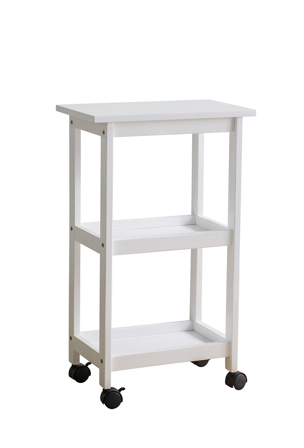 SJ Collection West End Kitchen Cart, White