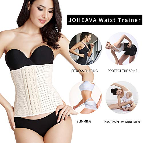 eb4e4feb575 JOHEAVA Women s Latex Waist Trainer Corset for Weight Loss Waist Cincher