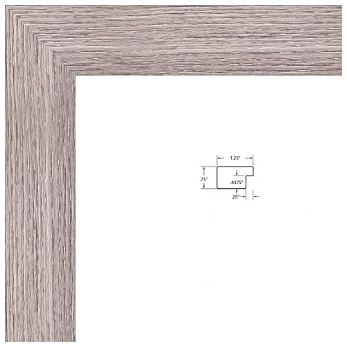 ArtToFrames 12x36 inch  Gray Oak - Barnwood Picture Frame, 2WOM76808-973-12x36 by ArtToFrames (Image #9)