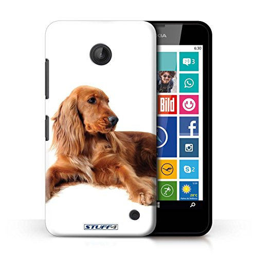 Kobalt® Imprimé Etui / Coque pour Nokia Lumia 630 / Cocker Spaniel conception / Série Chiens