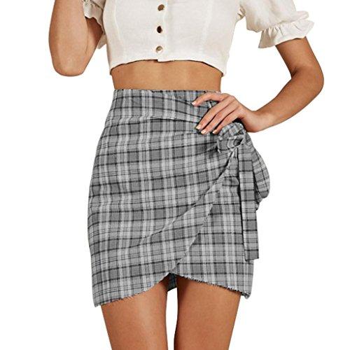 DongDong Big Promotion! Women Dress High Waist Stripe Lattice Fashion Girls Sexy Uniform Mini Skirt from DongDong