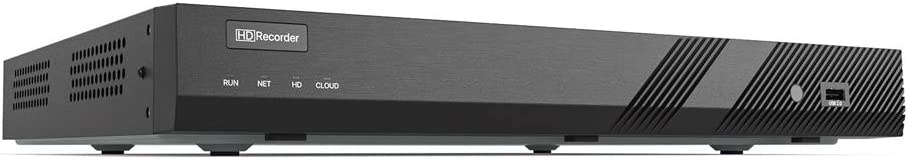 H.VIEW 16 Channels 4K POE NVR Recorder 4K/8MP/6MP/5MP POE Network Video Recorder-Supportes up to 16x8MP/4K IP Cameras, Max up to 2x10TB Hard Drives (Not Included)