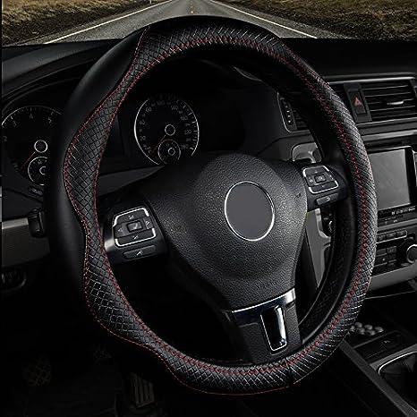 de piel aut/éntica 38/cm Juke nuevo X-Trail e-nv200/Evalia nuevo Duster Sandero Lodgy Logan Dokker 38cm Negro para Pulsar NV200/EVALIA Han Sui Song Volante para Coche