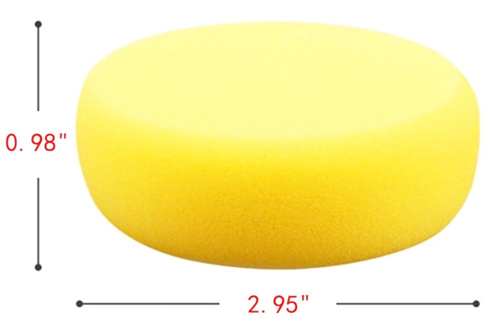 ocharzy Watercolor Artist Sponges Round Face Painting Sponges Pack of 10 from Yellow
