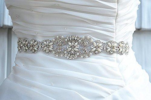 Beading Wedding Crystal Rhinestone Sash light