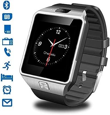 CHEREEKI Smart Watch Reloj Inteligente Bluetooth Smartwatch Teléfono Inteligente Pulsera con Cámara Pantalla Táctil Soporte SIM / TF para Android ...