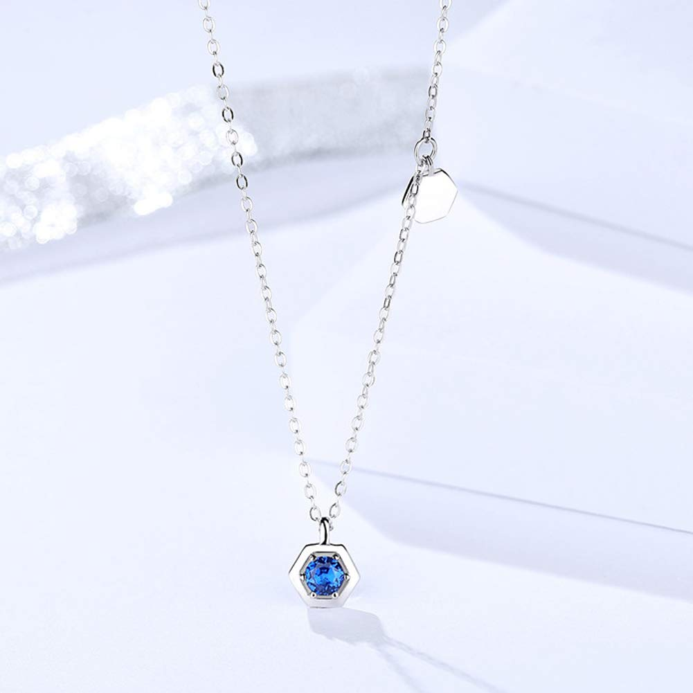 Amazon com: YAZILIND Silver Plated Simple Blue Crystal