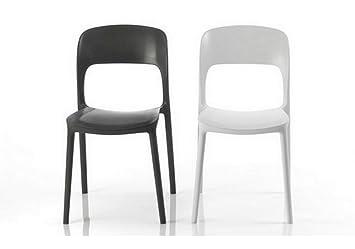 Set di sedie gipsy di bontempi impilabile in polipropilene
