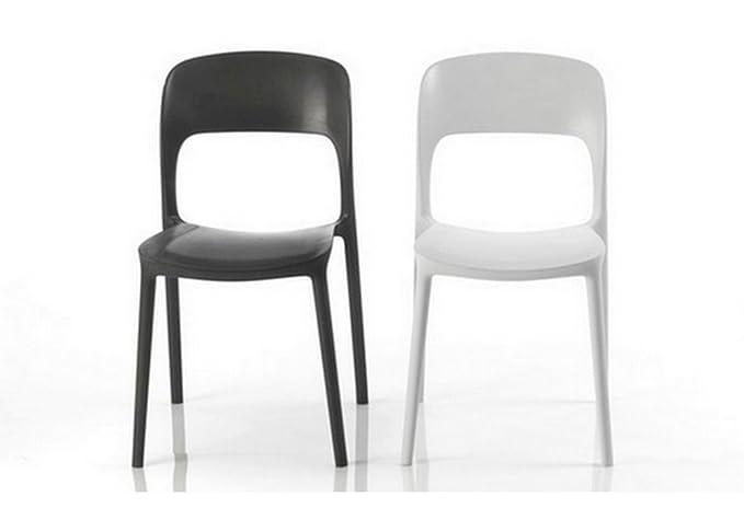 Bontempi set di 2 sedie gipsy impilabile in polipropilene sabbia