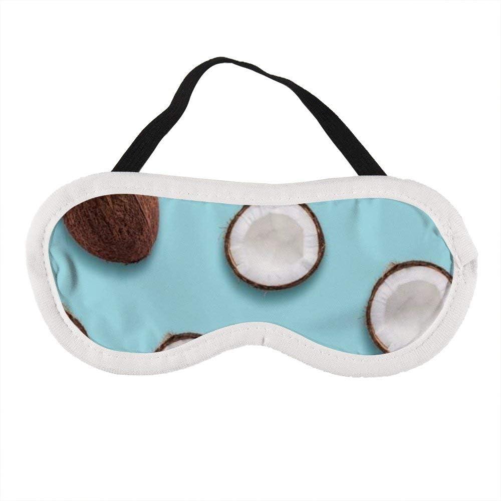 Máscara de ojos portátil para hombres y mujeres, la mejor máscara de dormir de coco para viajes, siesta, te da el mejor ambiente de sueño